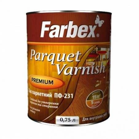 Паркетный лак ПФ 231 Farbex, 0.75 л