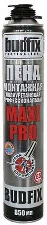 Профессиональная монтажная пена Budfix Maxi 65, 850 мл