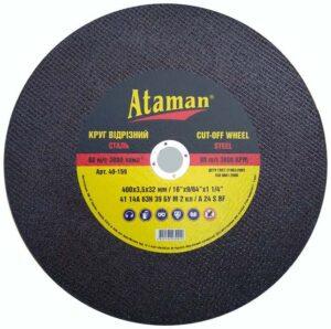 """Отрезной круг по металлу """"Ataman"""" 400*3,5*32"""