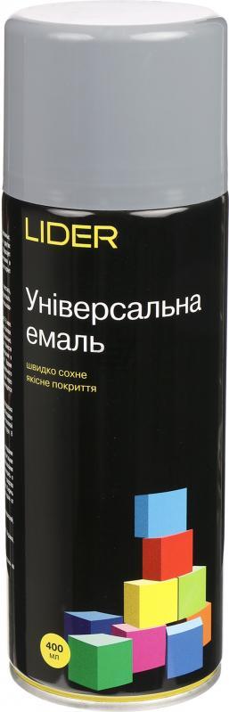 Универсальная эмаль Lider 400 мл, серая №7046