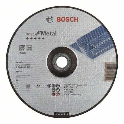 Отрезной круг Bosch Best по металлу 115×1,0, вогнутый, 2608603513