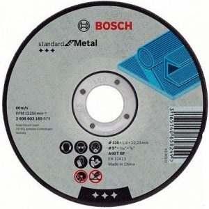 Отрезной круг Bosch Standard по металлу 115х1.6мм SfM, прямой, 2608603163
