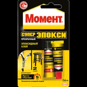 Клей МОМЕНТ СУПЕР ЭПОКСИ эпоксидный, 2х6 мл