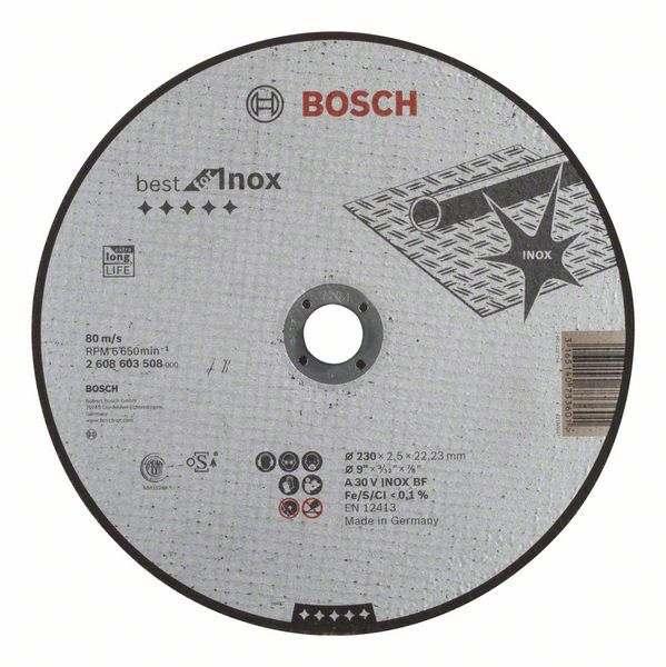 Отрезной круг Bosch Best по нержавейке 230×2,5, прямой, 2608603508