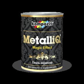 Эмаль акриловая METALLIQ Kompozit серебро, 0.9 кг