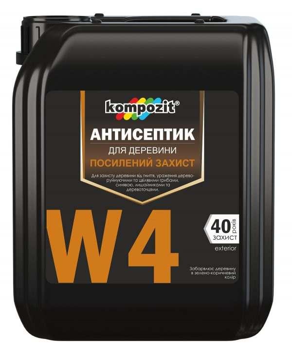 Антисептик для усиленной защиты W4 Kompozit, 5 л