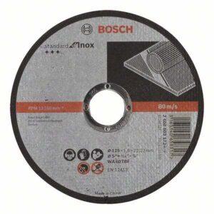 Отрезной круг Bosch Standard по нержавейке 125х1.6мм SfI, прямой, 2608603172