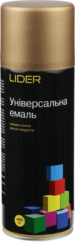 Универсальная эмаль Lider 400 мл, темное золото №1036
