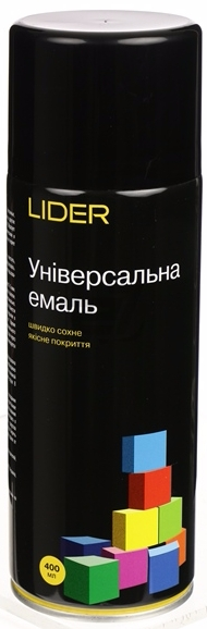 Универсальная эмаль Lider 400 мл, черная глянцевая №9005
