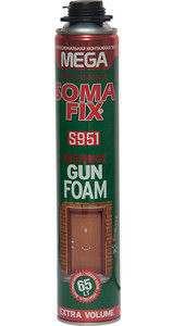 Профессиональная монтажная пена Soma Fix Mega всесезонная, 850 мл