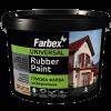 Farbex Краска резиновая (вишневая), 12 кг