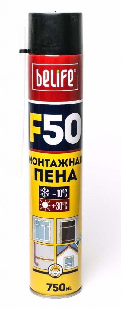 Ручная монтажная пена BeLife F50 L, 750 мл