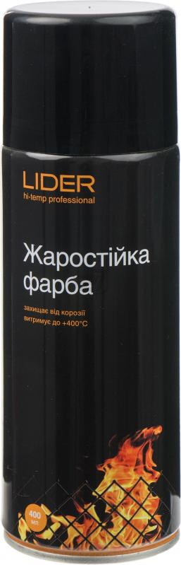 Жаростойкая эмаль Lider 400 мл, черная