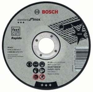 Отрезной круг Bosch Inox 115×2 мм, 2608600093