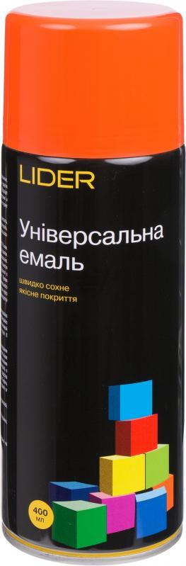 Универсальная эмаль Lider 400 мл, оранжевая №2004