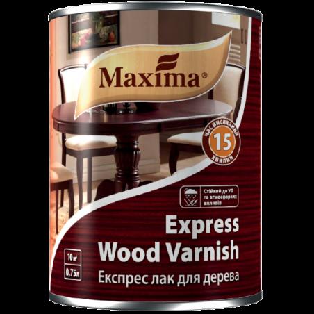 Экспресс лак для дерева Maxima полуматовый, 0.75 л