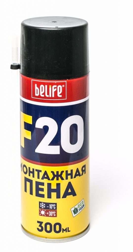 Ручная монтажная пена BeLife F20 L, 300 мл