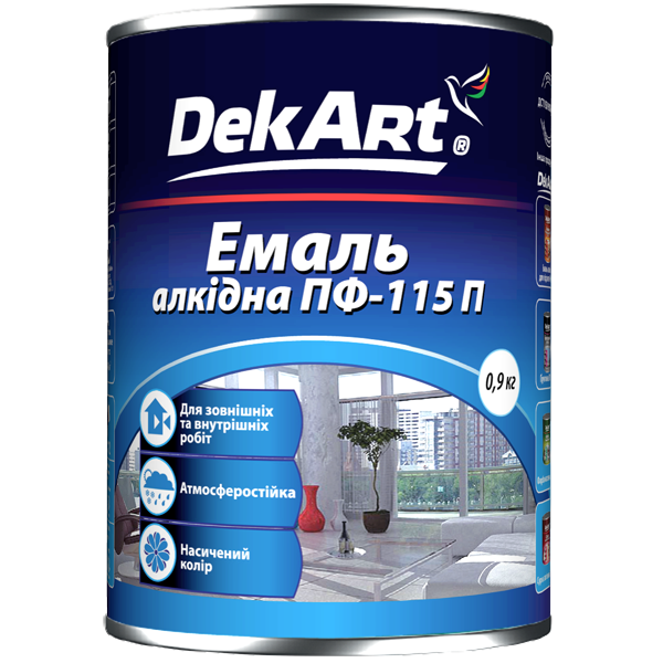 Эмаль ПФ 115 DekArt красная, 50 кг