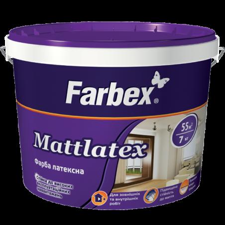 Краска латексная для  внутренних работ Farbex Mattlatex, 7 кг