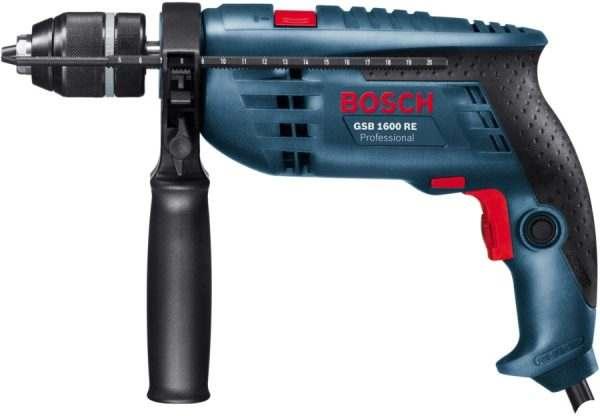 Ударная дрель Bosch GSB 1600 RE (бзп) (0601218121)