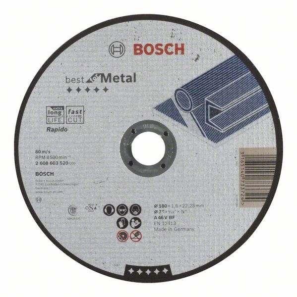 Отрезной круг Bosch Best по металлу 180×1,6, прямой, 2608603520