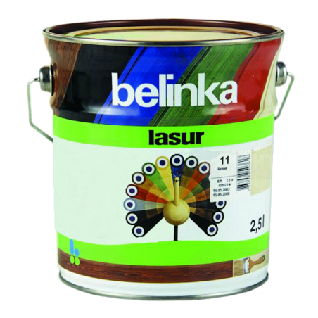 Belinka Lasur № 72 санториново-синяя, 2.5 л