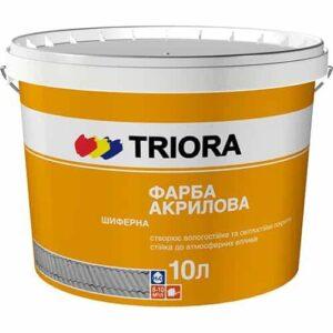 Акриловая краска для шифера Triora, Красно-коричневая, 10 л