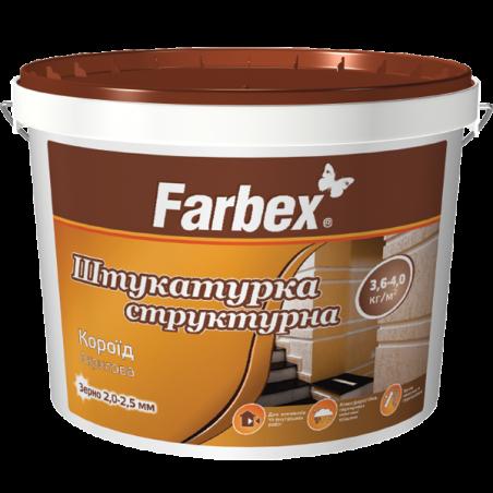 Декоративная штукатурка Farbex Короед (размер зерна 2,0 – 2,5 мм), 18 кг