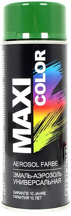 Универсальная аэрозольная эмаль Maxi Color 400 мл, Зеленая RAL 6002