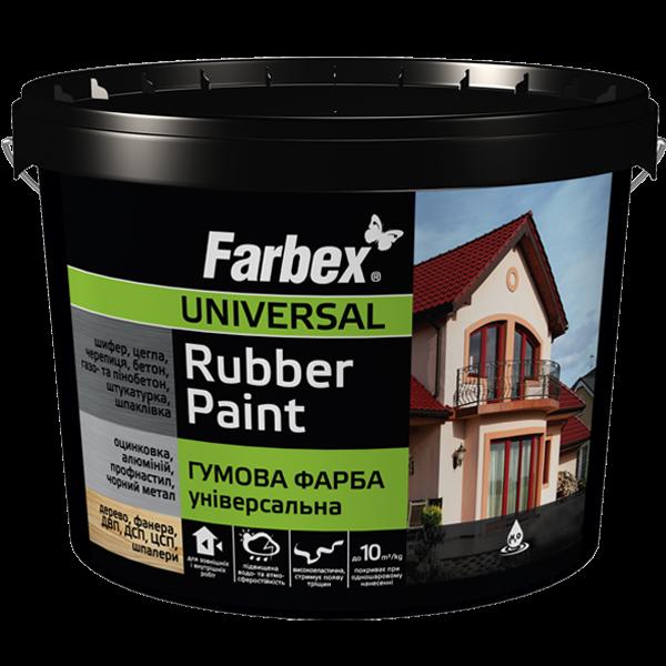 Farbex Краска резиновая (красно-коричневая), 1.2 кг