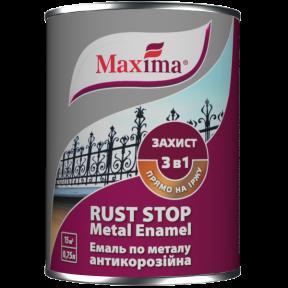 Эмаль 3 в 1 глянцевая Maxima темно-серая, 2.5 л