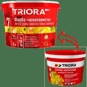 Акриловая краска Triora шелковисто-матовая, 1 л