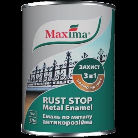 Эмаль 3 в 1 молотковая Maxima бордо, 0.75 л