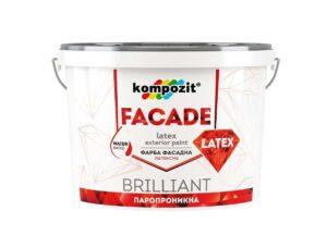 Kompozit Фасадная краска FACADE LATEX, 1.4 кг