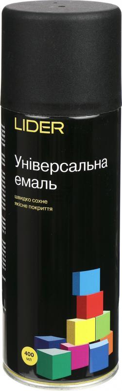 Универсальная эмаль Lider 400 мл, черная матовая №9005