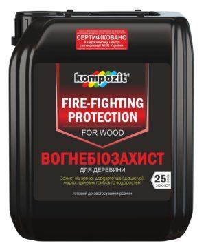 Огнебиозащита для древесины Kompozit красный 10 л