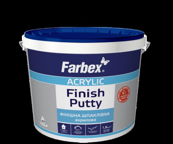 Farbex Шпаклёвка финишная акриловая белая, 1.5 кг