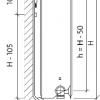 Стальной радиатор Purmo Ventil Compact, CV33 (33 тип) 400 х 900 34610