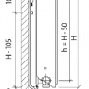Стальной радиатор Purmo Ventil Compact, CV22 (22 тип) 600 х 1800 34464