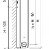 Стальной радиатор Purmo Ventil Compact, CV21s (21 тип) 450 х 1400 34206