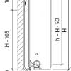 Стальной радиатор Purmo Ventil Compact, CV33 (33 тип) 400 х 900 34609