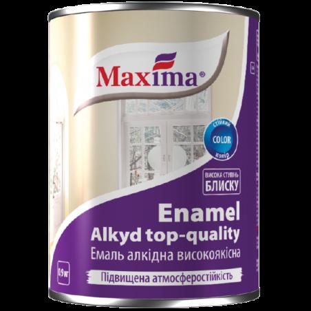 Эмаль алкидная Maxima темно-серая, 0.9 кг