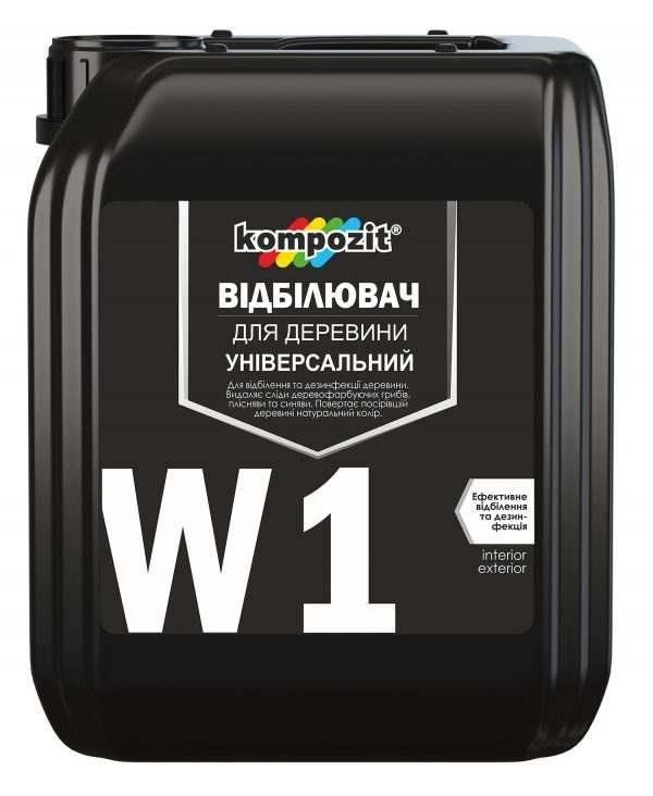 Отбеливатель для древесины W1 Kompozit 1 л