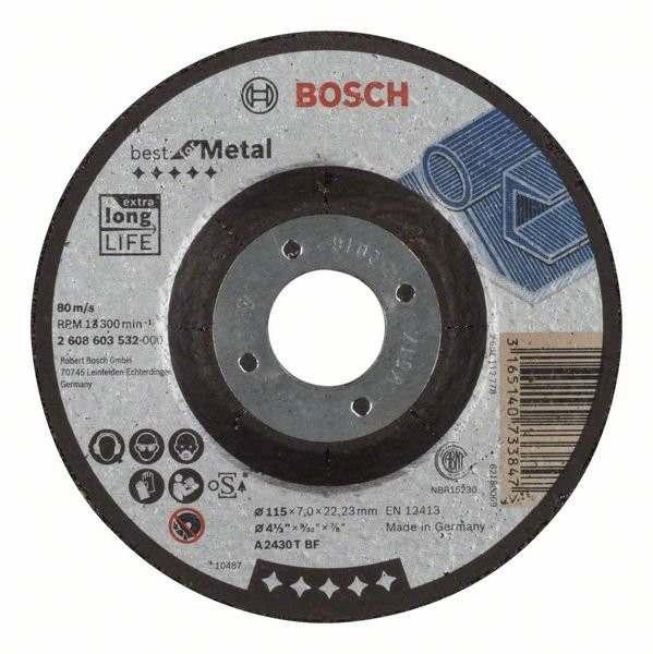 Отрезной круг Bosch Best по металлу 115×1,5, прямой, 2608603516