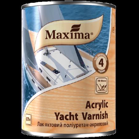Акриловый яхтный лак Maxima глянцевый, 0.75 л