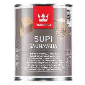 Tikkurila Supi Saunavaha (Тиккурила Супи Саунаваха) Защитный воск, 0.9 л