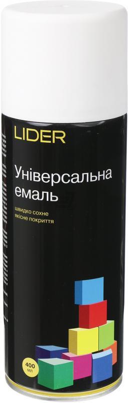 Универсальная эмаль Lider 400 мл, белая матовая №9010