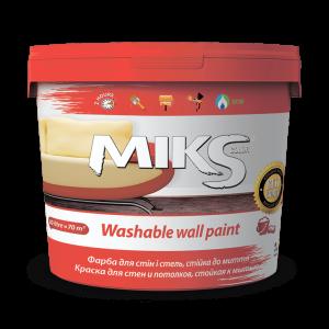 Краска для стен и потолков, стойкая к мытью МИКС, 1,4 кг