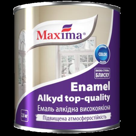 Эмаль алкидная Maxima белая (глянцевая), 2.8 кг