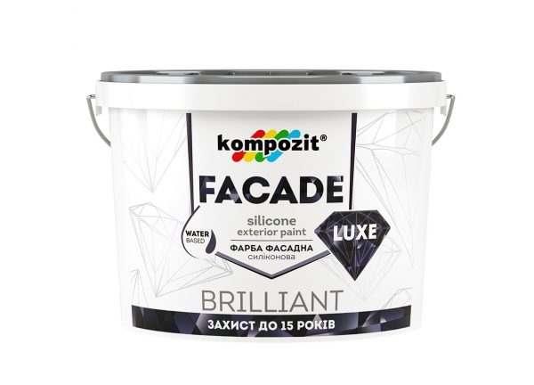 Kompozit Краска фасадная силиконовая FACADE LUXE (База С), 1.4 кг